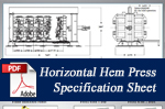 Horizontal Hemming Press Spec Sheet